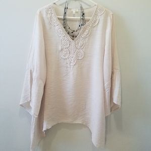 Spence sand colored boho top